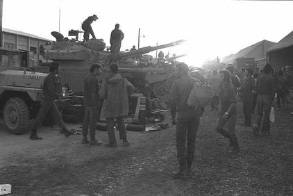 reservists-assembling-at-an-army-base-in-the-north-after-call-up-on-yom-kippur